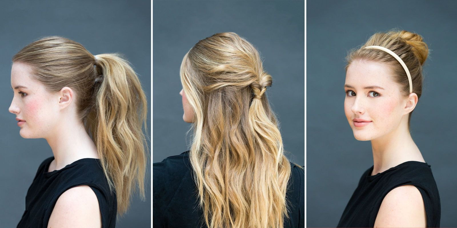 Super Easy Hairstyles You Can Do In Less Than A Minute Easy Hairstyles Easy Hairstyles For Long Hair Medium Hair Styles
