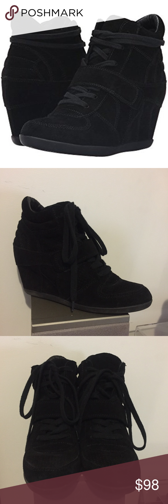 d8ff0d9958dc Size 40 (10) Would fit 9.5 too Show off your cool-girl edge in the Bowie by  ASH™! Sneaker wedge ...