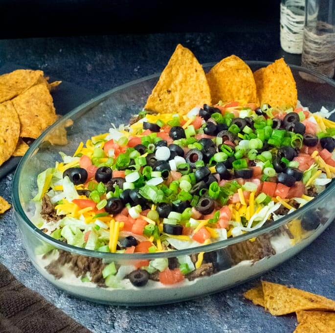 Easy Taco Dip with Meat