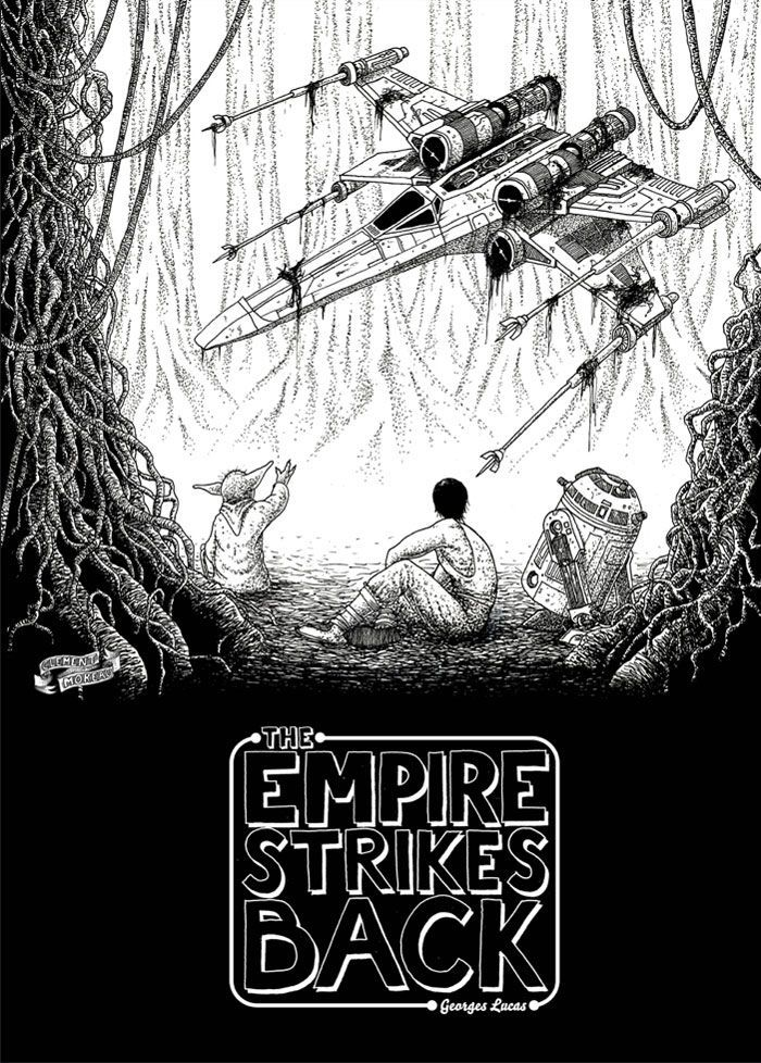 An alternative movie poster for the film star wars episode v the empire strikes back created by christian petersen featured on amp