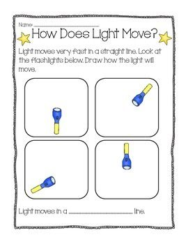 Light Common Core Ngss Experiments Worksheets All About Light