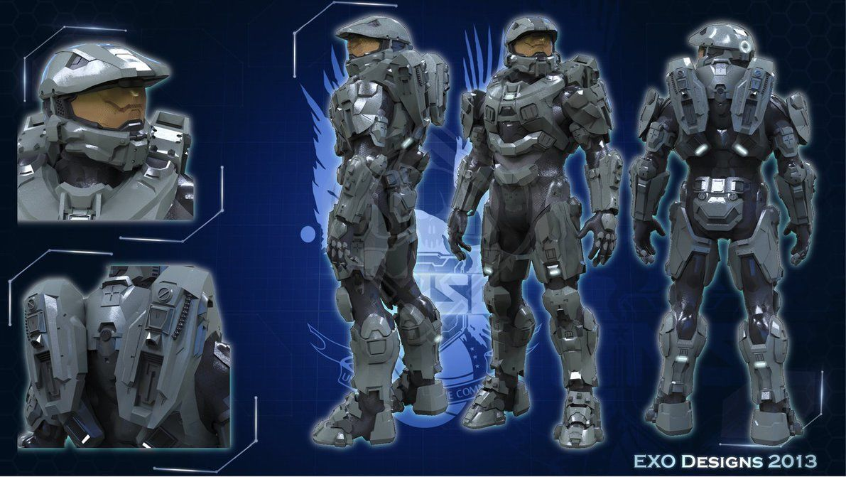 Halo 4 Master Chief Armor Hd By Dutch02 On Deviantart