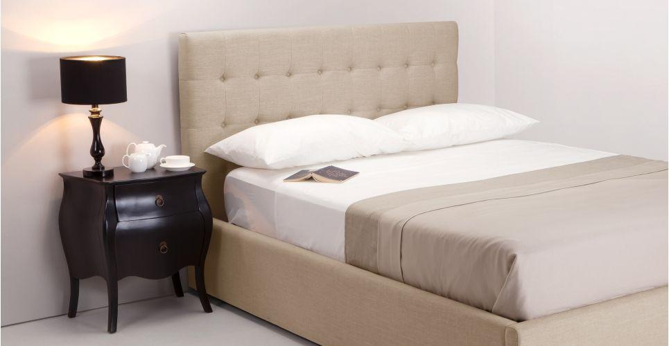 finlay un lit double 160 cm x 200 cm et rangement beige biscuit celina. Black Bedroom Furniture Sets. Home Design Ideas
