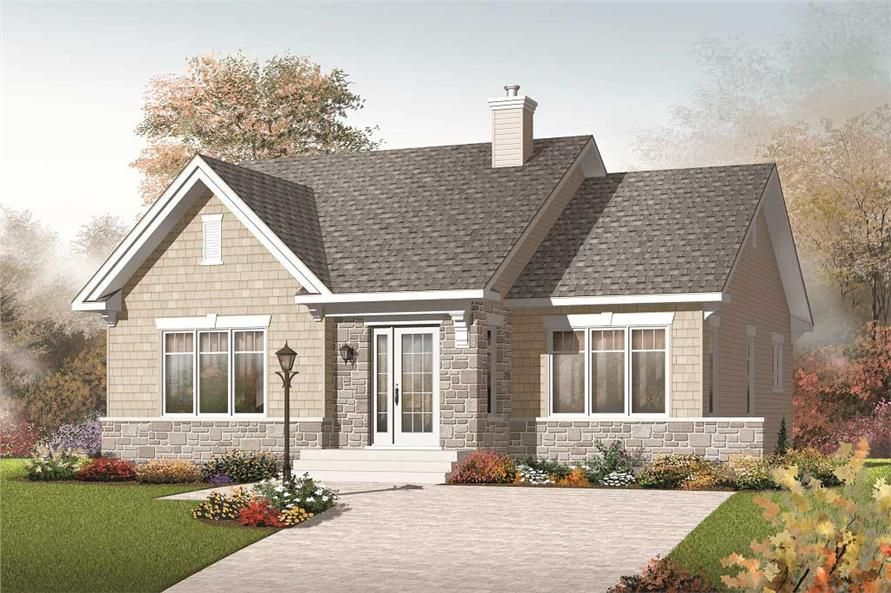 This Image Shows The Front Elevation For These Country House Plans Bungalow Style House Plans Craftsman Style House Plans Bungalow Floor Plans