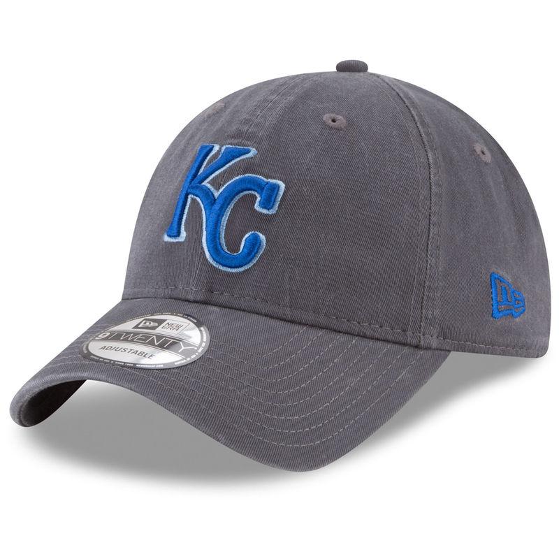 reputable site 5c660 aa94d Kansas City Royals New Era Primary Logo Core Classic 9TWENTY Adjustable Hat  - Graphite