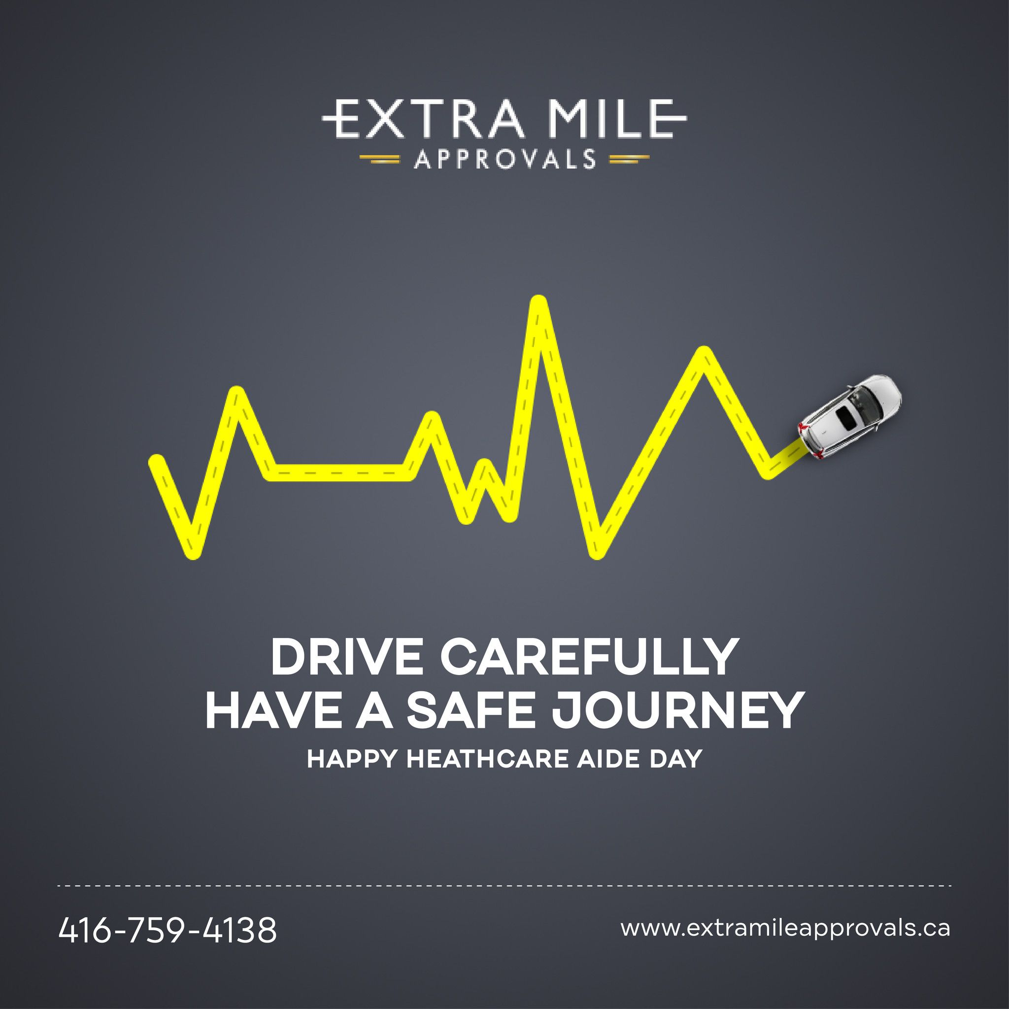Happy healthcare aide day drive the car you want at a