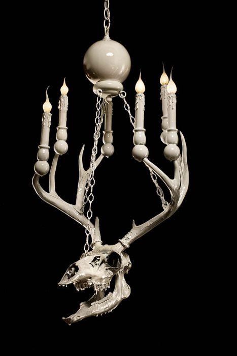 ...deer. Skull lamp Adam Wallacavage.