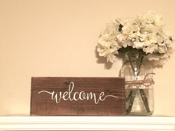 READY TO SHIP! Welcome Sign, Wooden welcome sign, rustic wall decor ...