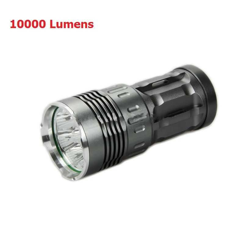 Powerful Flashlight 10000 Lumen Led Flashlight Hunting Xm L T6 8x Led Flashlight Waterproof Led Torch Outdoors Camping Led Torch Led Flashlight Hunting Light Flashlight