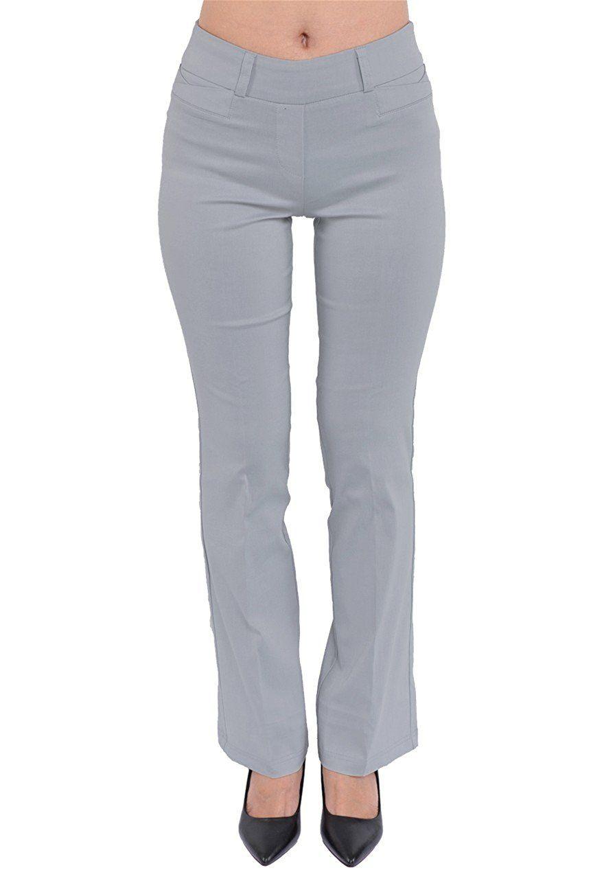 Ladies bootcut pinstripe trousers