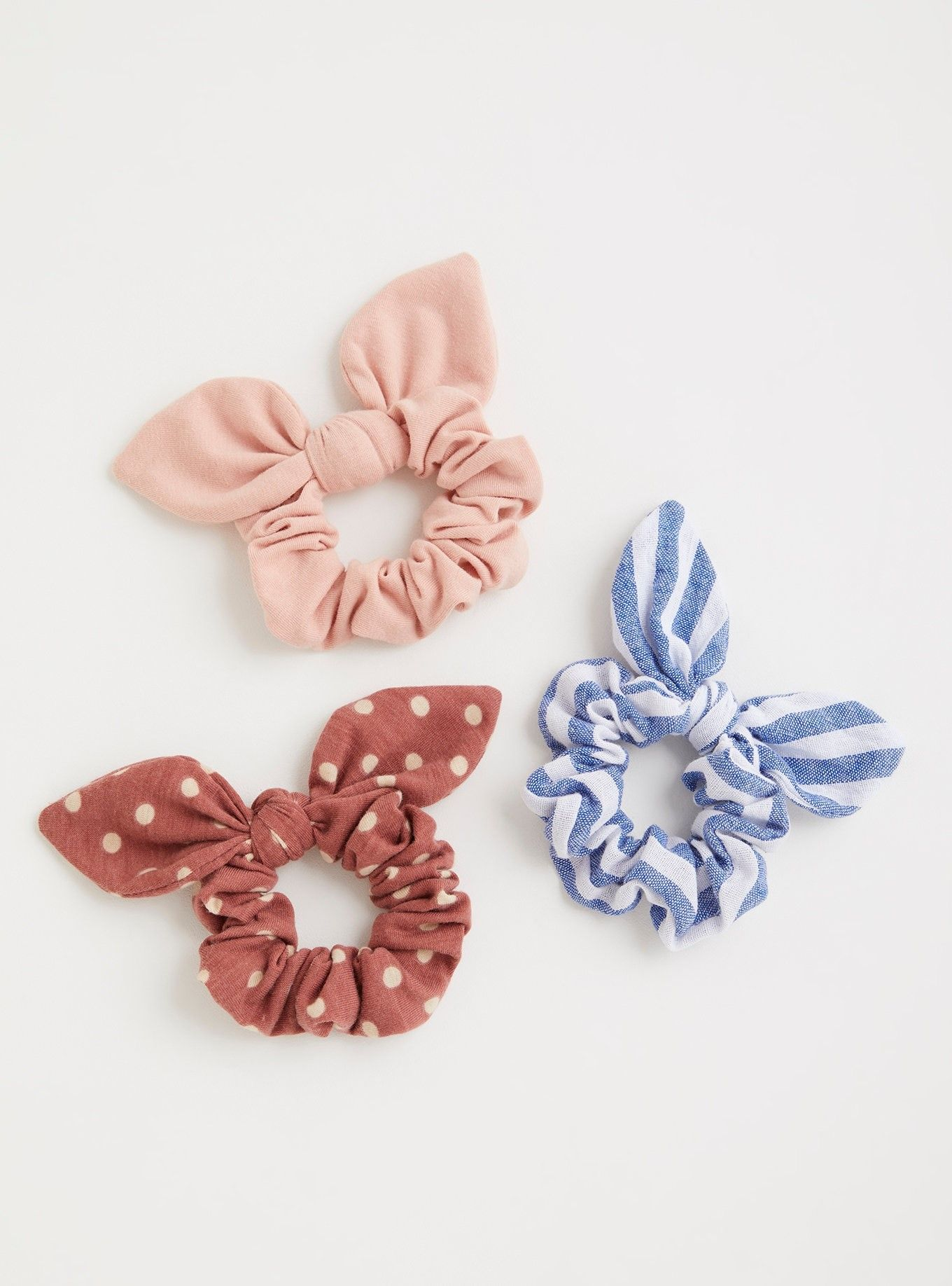 Apparel Accessories Girl's Accessories New Fashion Women Girls Colorful Printing Rubber Band Cute Rabbit Ears Bowknot Polka Dot Leopard Floral Hair Rope Ponytail Holder Scrunchies Latest Technology