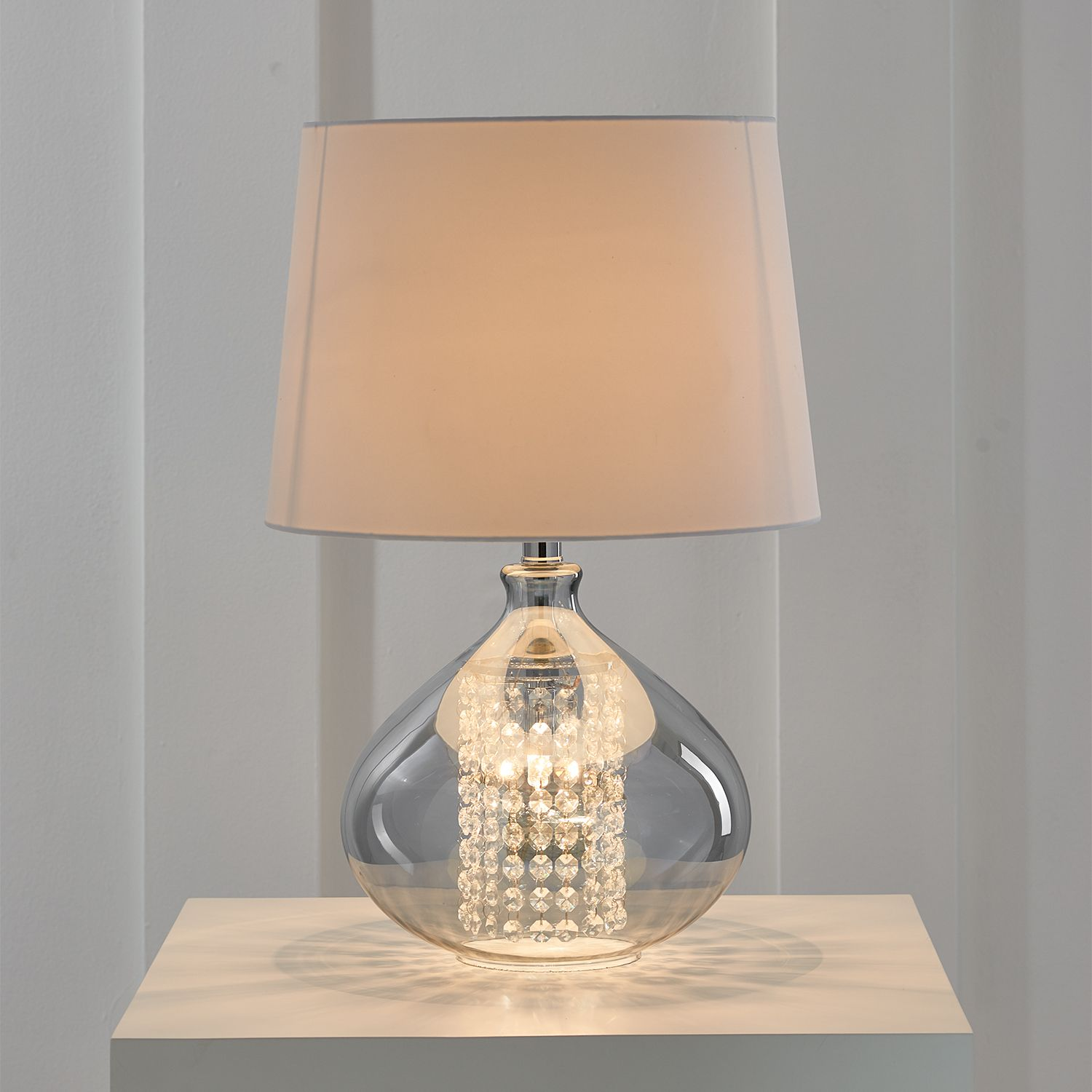 Encased Droplets Crystal Table Lamp Table Lamp Lamp Crystal