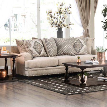 furniture of america charles of london sofa beige in 2019 rh pinterest com