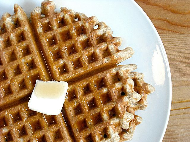 Whole Wheat Buttermilk Waffles. from a dash of sass
