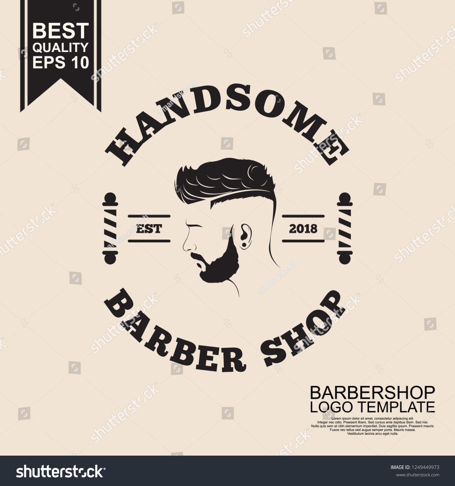 Vintage Barbershop Logo Template Logo Templates Barber Shop Templates