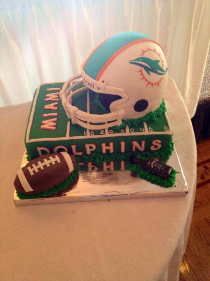 Miami Dolphins Grooms Cake Miami Dolphins Cake Dolphin Cakes Dolphins