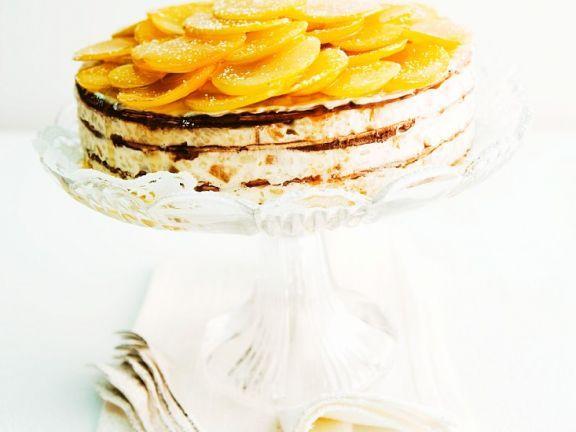 Oblaten-Milchreistorte ist ein Rezept mit frischen Zutaten aus der Kategorie Obstkuchen. Probieren Sie dieses und weitere Rezepte von EAT SMARTER!