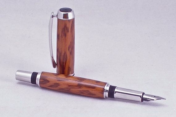 Luxury Fountain Pen in Snakewood by BarbSWoodworks on Etsy, $95.00