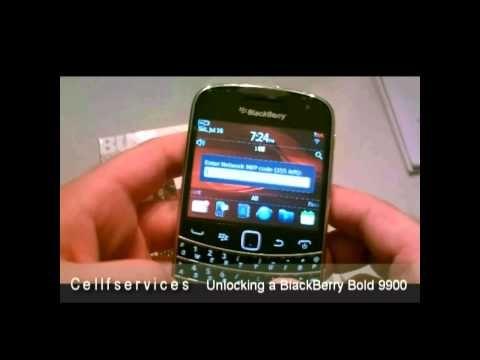 How to Unlock BlackBerry Bold 9900 with Unlock Code