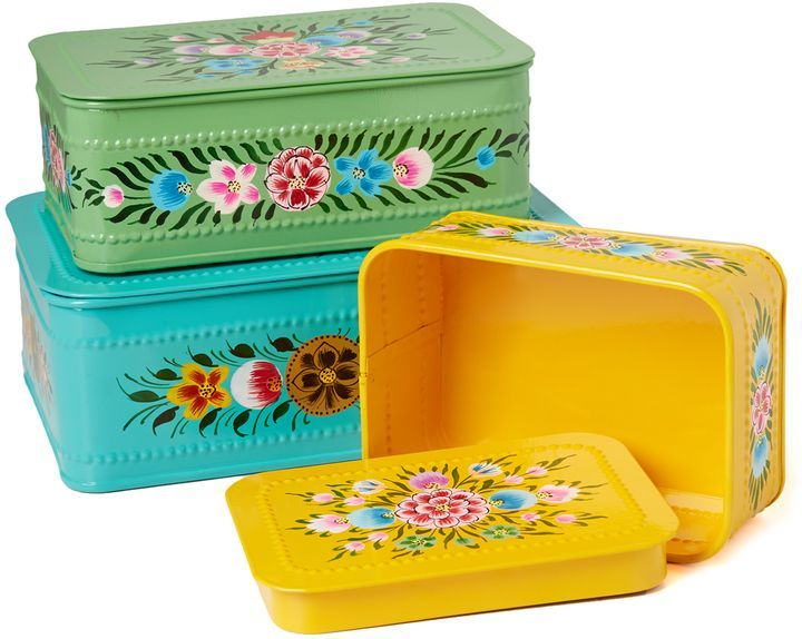 Gift boutique millifiori set of 3 boxes love the vintage
