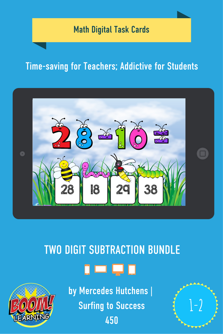 Children practice two digit subtraction in this bundle that moves ...