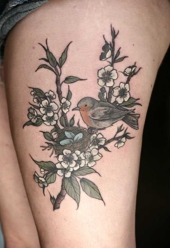 Birds on tree by @Alice Carrier at Wonderland Tattoo in beautiful ...