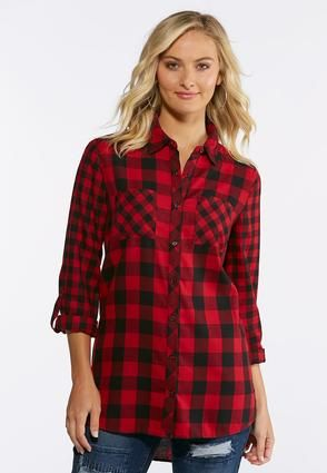7470856b Cato Fashions Buffalo Plaid Shirt #CatoFashions | Sewing: Tops ...