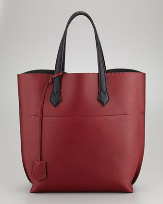Matte Leather Shopping Tote Bag Oxblood By Fendi At Neiman Marcus