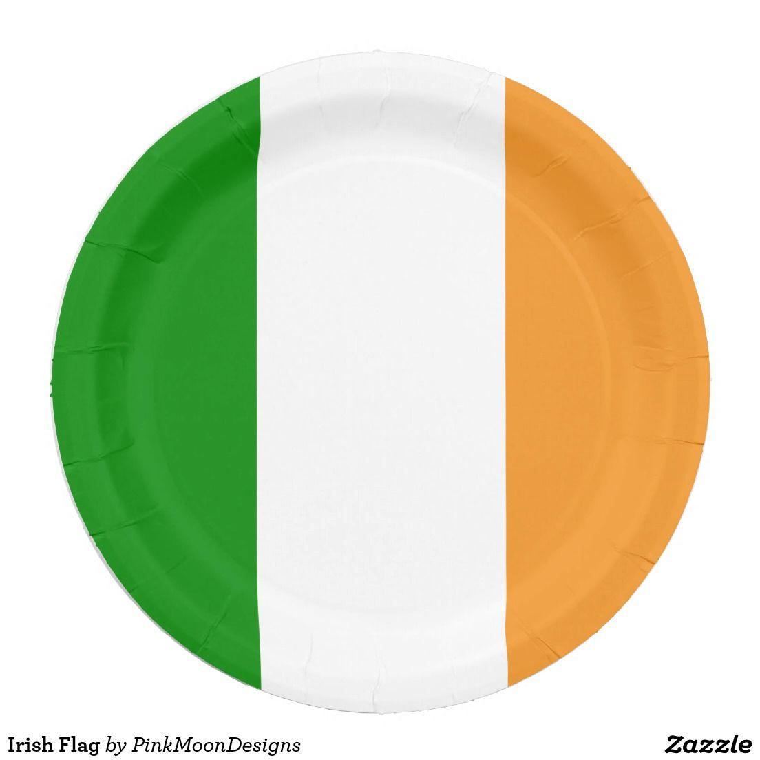 Irish Flag 9 Inch Paper Plate