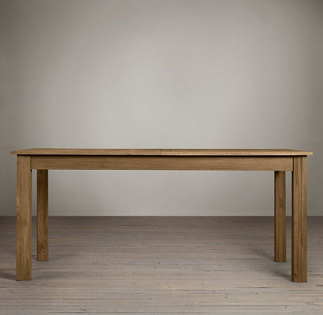Bon Drifted Oak Parsons Rectangular Extension Dining Table