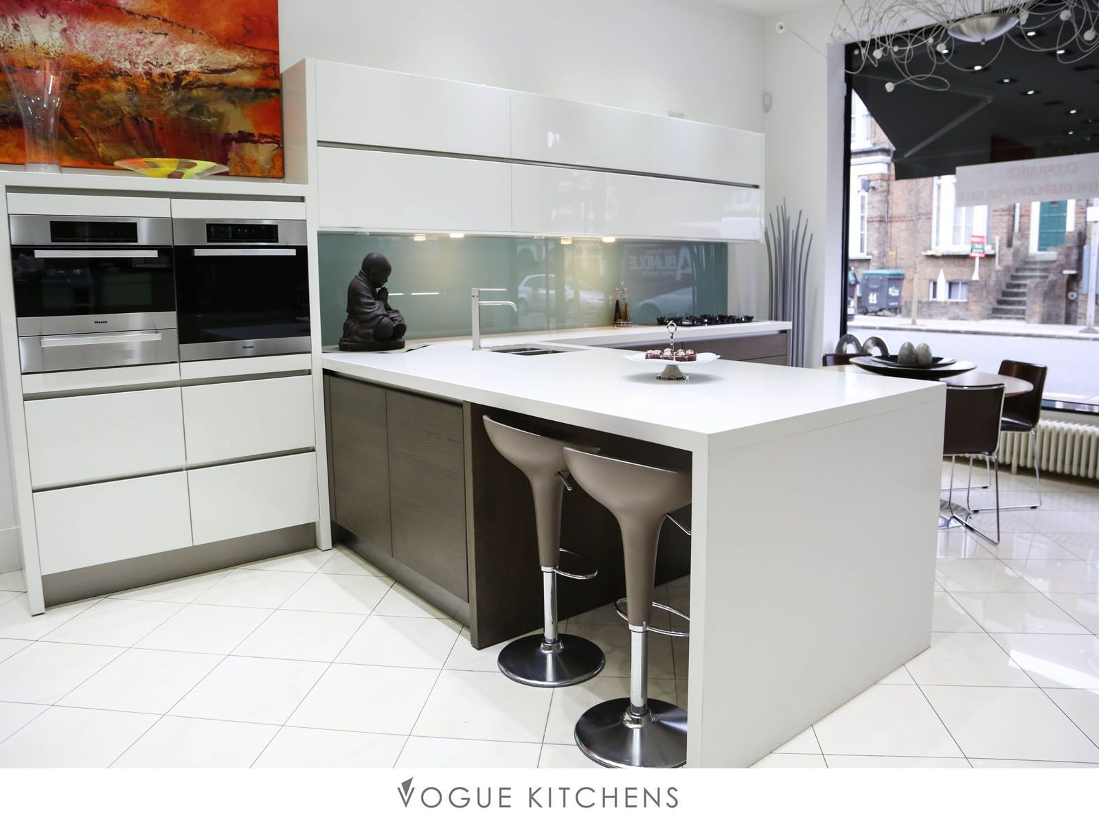 White hacker german kitchen display (with miele appliances ...