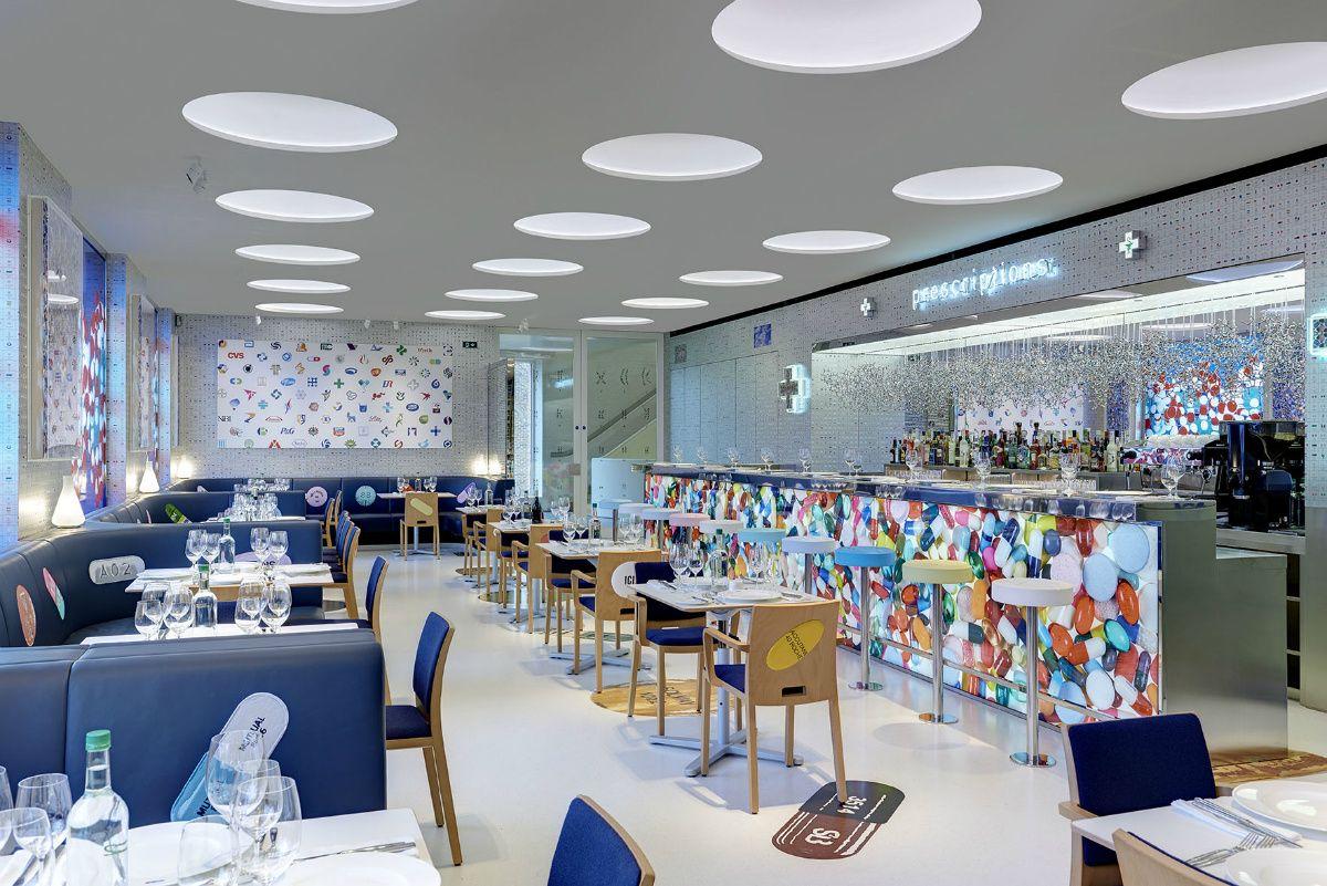 El concept restaurant The Pharmacy2 de Damien Hirst y el chef Mark Hix - AD España, © 2H Restaurant Ltd www.revistaad.es