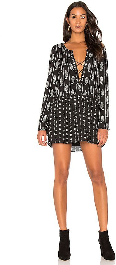 Lace Up Mini Dress in Black. - size XS (also in S) The Jetset Diaries KAcS46