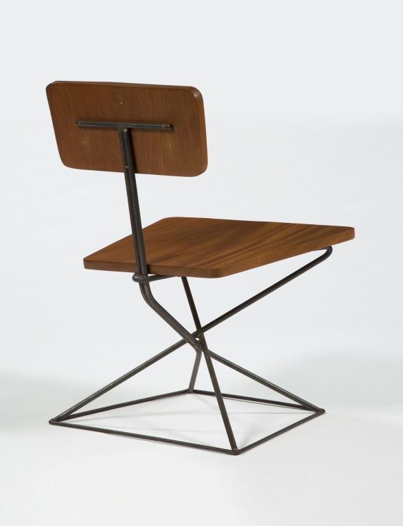 Lounge chair in mahogany and iron, ca. 1950 | chair . Stuhl . chaise | Design: Luther Conover |