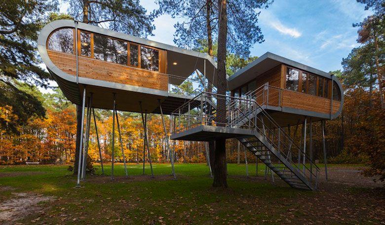 6x Inspirerende Boomhutten : Baumraums treehouse retreat in belgium