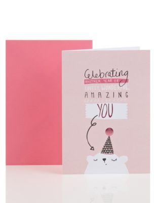 Cute Polar Bear Friend Birthday Card Birthday Cards For Friends Greeting Card Inspiration Cards