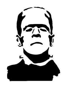 Frankenstein Silhouette Frankenstein Halloween Silhouette Vinyl Sticker Decal Halloween Silhouettes Frankenstein Silhouette