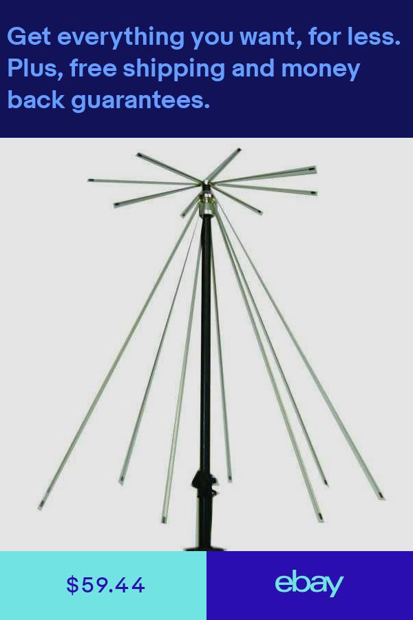 Mfj 1866 Vertical Discone Antenna 25 1300mhz So 239 Connector Ham Radio Equipment Radio Antenna Antenna