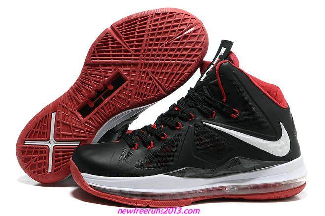 Lebron 10 Lebron James Shoes 2013 Ps Black Sport Red 541100 002