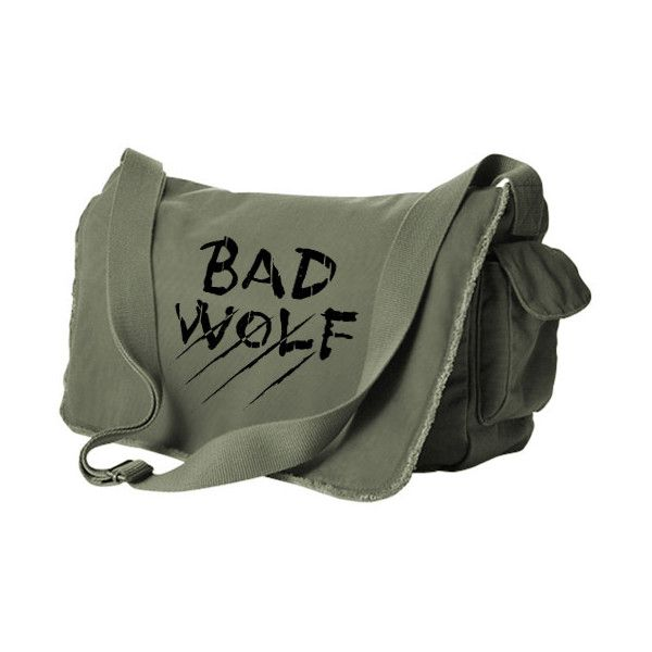 Bad Wolf Messenger Bag (black/khaki green) ($40) ❤ liked on Polyvore featuring bags, messenger bags, bolsos, khaki messenger bag, black messenger bag, messenger bag, khaki bag and green bags