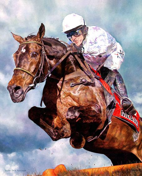 Black Jack Ketchum Painting. Limited Edition Horse Racing