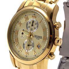Relógio Technos Chronograph Classic Dourado Masculino
