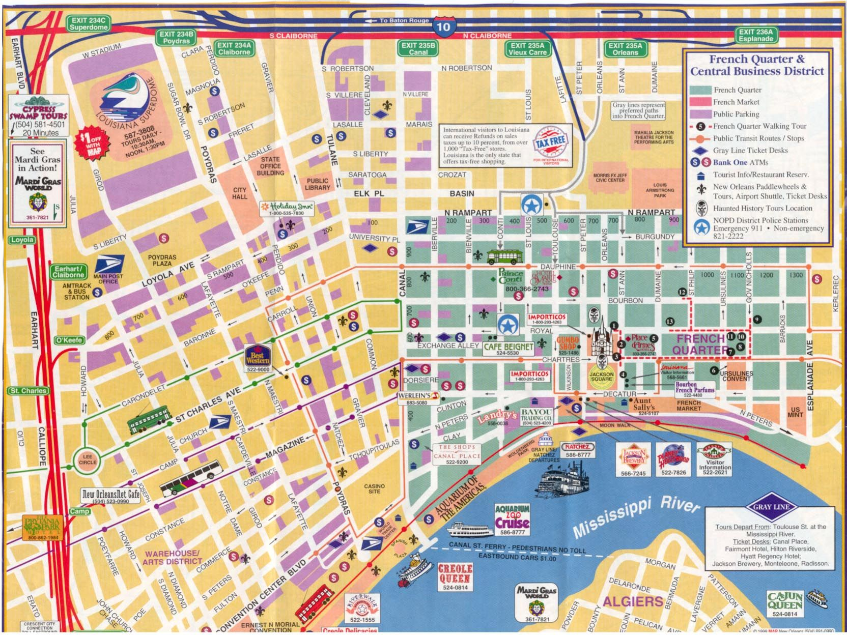 New Orleans French Quarter Tourist Map Pin by Marguerite Thompson on Travel tips and maps in 2019