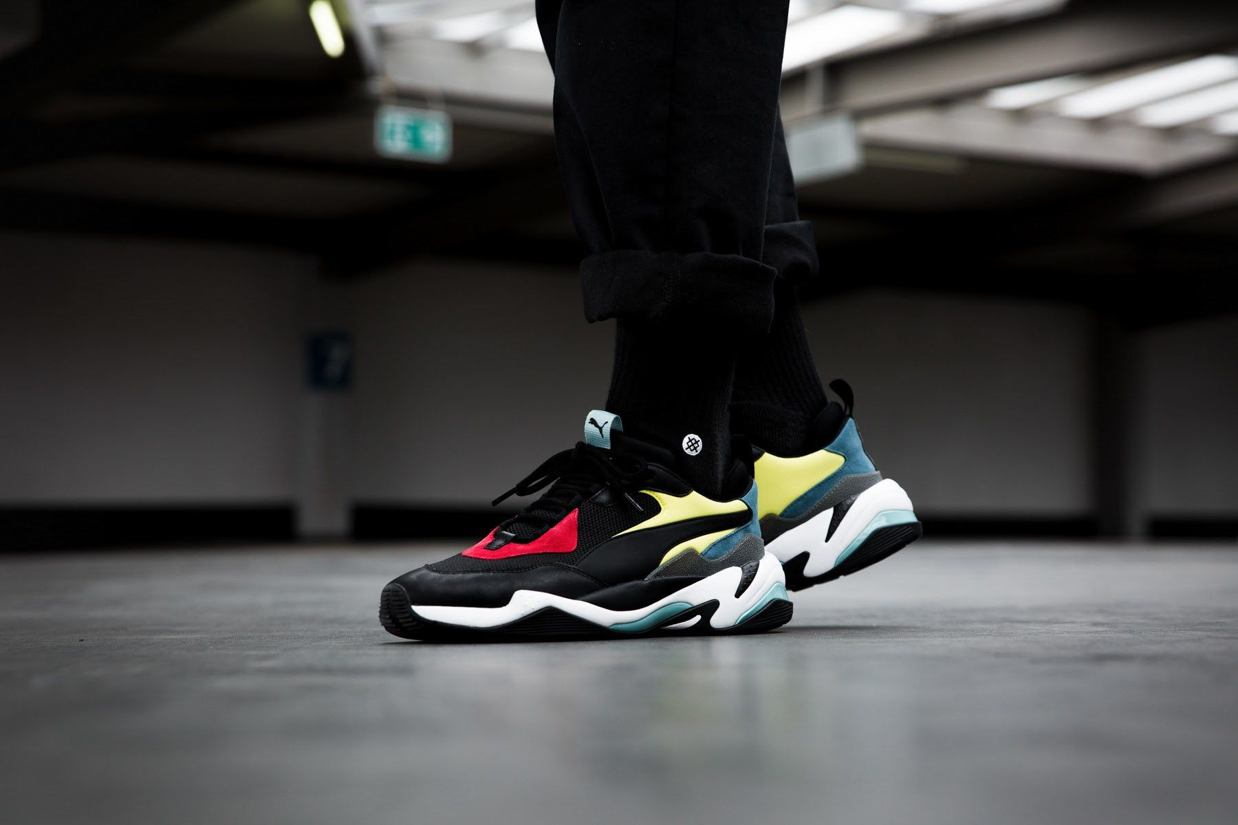 Puma Thunder Spectra Sneakers Casual Black Mens for sale
