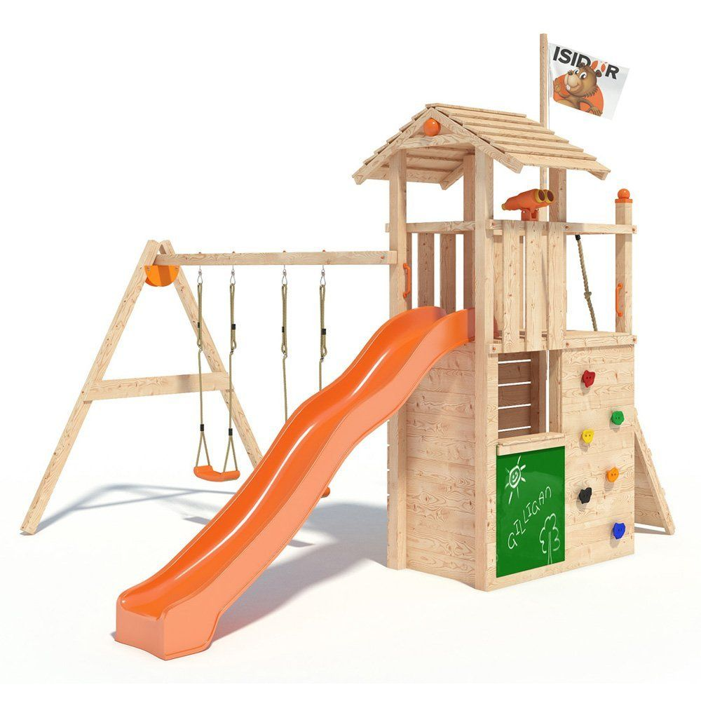 isidor gilligan spielturm kletterturm baumhaus rutsche schaukeln