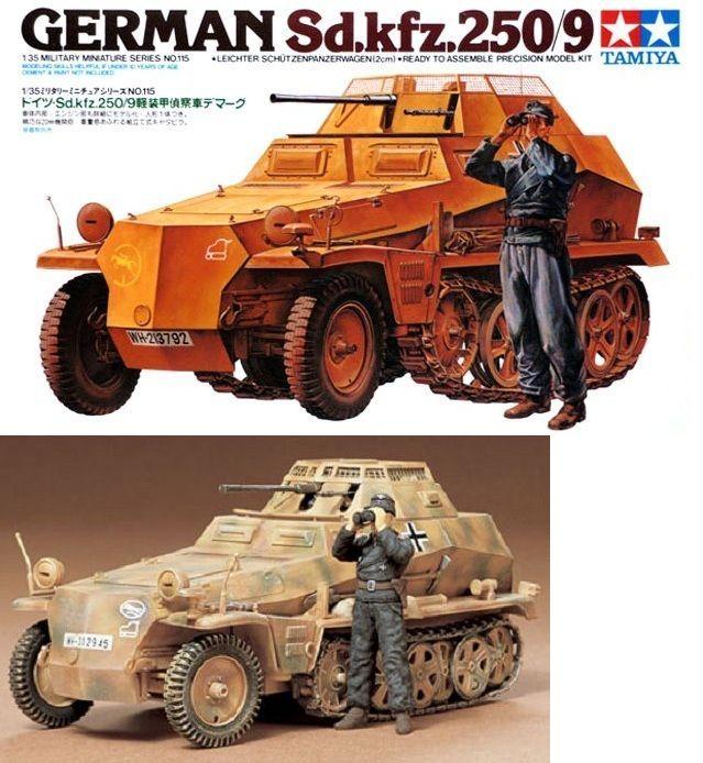 TAMIYA1//35 Militar Miniatura Serie N º 9 Ejército Alemán II MO Tanque Plástico