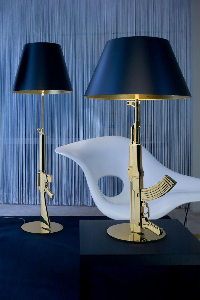 Lampen und Leuchten Flos ARA Tischleuchte waffen gold Beleuchtung - wohnzimmer creme rot