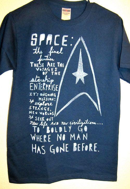 23a454ae2 STAR TREK fandom tshirts by BrittFaceNess on Etsy, $14.95 ...