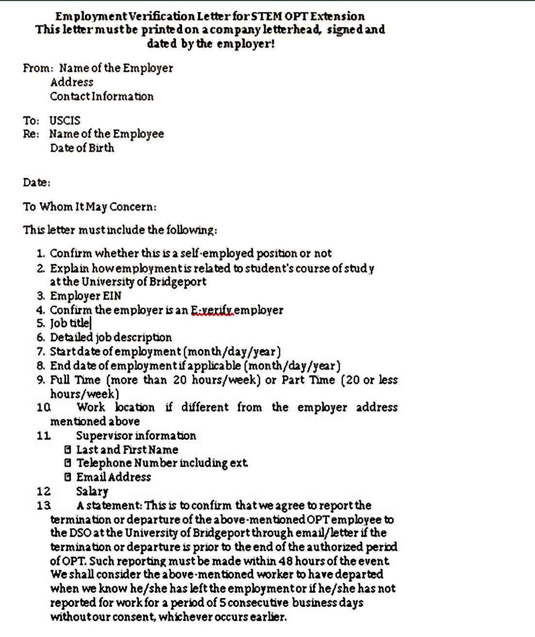 Employment Verification Letter Pdf Letter Of Employment