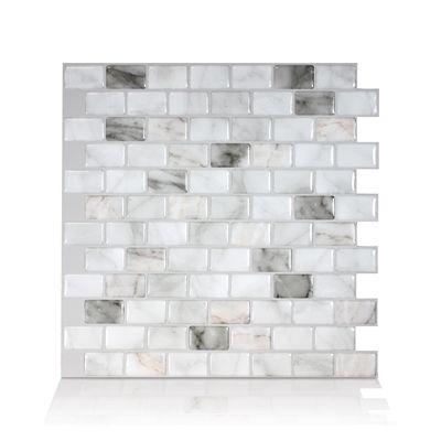 Smart Tiles Backsplashes Wall Tile Sm1098 6 Ravenna Bianco Self - Self-adhesive-backsplash-set